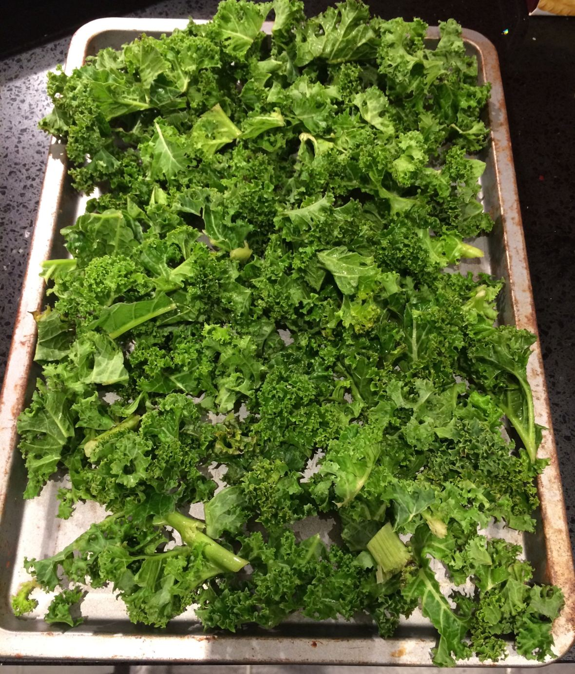 A couple of generous handfuls of kale